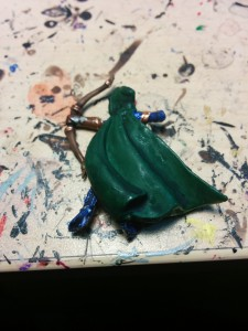 The green cloaks got most of the highlighting.  This is what they look like beforehand.
